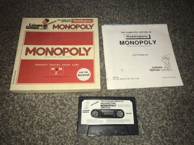 Amstrad CPC game - Manopoly - waddingtons