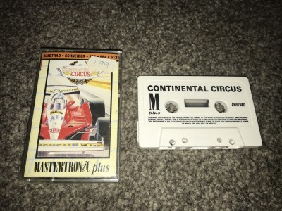 Amstrad CPC game Continental circus - mastertronic plus