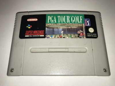 Super Nintendo SNES game PGA Tour Golf
