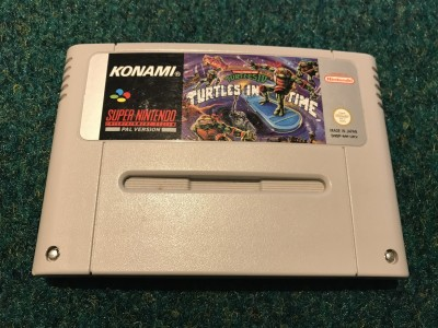 Super Nintendo SNES game Turtles In Time