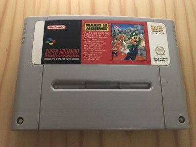 Super nintendo SNES Mario is Missing game