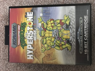 Sega Megadrive Turtles the hyperstone heist (complete)