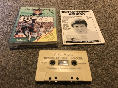 ZX Spectrum 48k game Emlyn Hughes international soccer