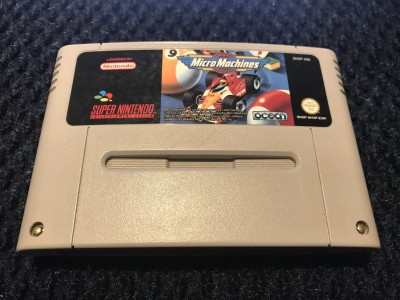Super Nintendo SNES Micro Machines game