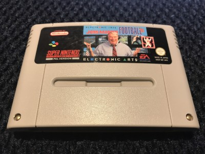 Super Nintendo SNES John madden football 93 game