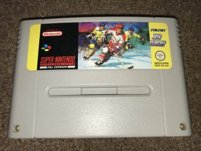 Super nintendo SNES Super Ice Hockey game