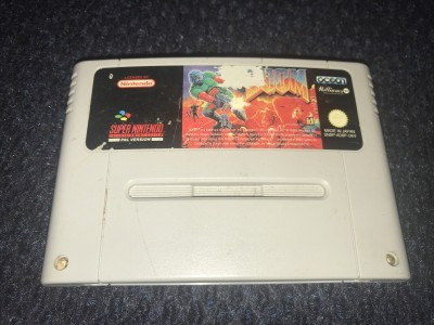 Super nintendo SNES Doom game