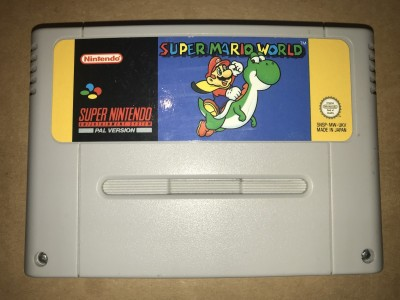 Super nintendo snes game - Super Mario World - PAL Cart only
