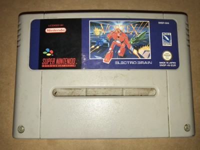 Super nintendo snes game - Vortex - PAL Cart only