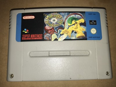 Super nintendo snes game - Mohark and headphone jack - PAL Cart only