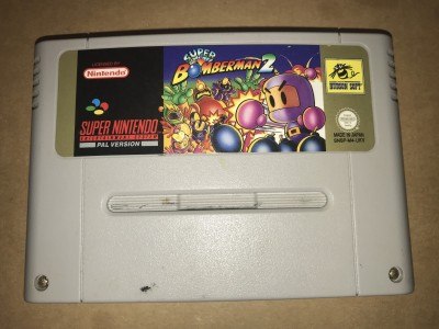 Super nintendo snes game - Super Bomberman 2 - PAL Cart only