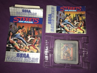 Sega gamegear streets of rage boxed complete
