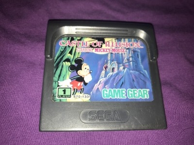 Sega gamegear Mickey mouse castle of illusion game