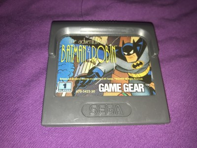 Sega gamegear The adventures of batman and robin game