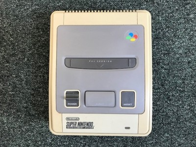 Super Nintendo SNES console with games