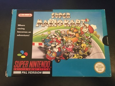 Super nintendo snes game super mario kart boxed and complete