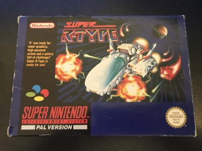 Super nintendo snes game super r-type boxed and complete
