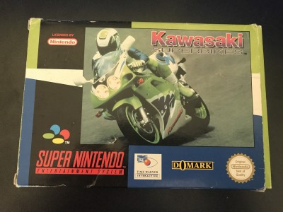 Super nintendo snes kawasaki superbikes boxed and complete