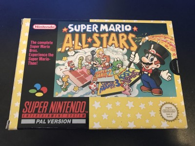 Super nintendo snes game super mario all stars boxed and complete