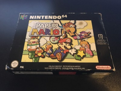 Nintendo 64: Nintendo 64 n64 game paper mario boxed and complete