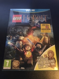Wii U game Lego the hobbit rare bilbo baggins minifigure version brand new sealed