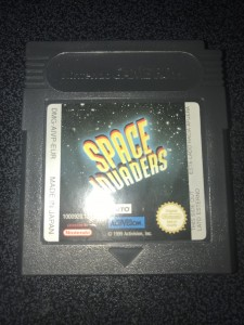 Nintendo gameboy color game space invaders